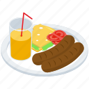 cheese sandwich, drink, fast food, hotdog platter, juice, junk food icon