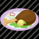chicken leg, chicken roast, fast food, fried chicken, junk food, leg piece icon