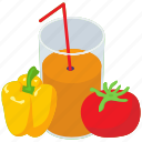 fresh juice, fruit juice, natural juice, organic juice, vegetable juice icon