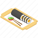 dish, kimbap, korean cuisine, korean food, sushi icon