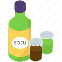korean alcohol, korean drink, korean liquor, soju, soju bottle icon