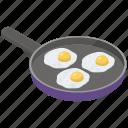 appetizing dish, breakfast, eggs pan, fried eggs, fried eggs pan icon
