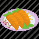 dish, food, japanese food, japanese food platter, japanses cuisine, meal icon