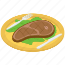 beef platter, beef steak, beef steak platter, food, junk food, meat platter icon
