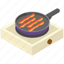 english breakfast, food, fried bacon, meal, pan frying bacon icon