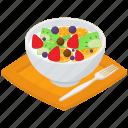 diet salad, fruits chart, fruits salad bowl, healthy food, mix fruits salad, sweet salad icon