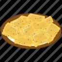 italian macaroni, italian pasta, italian ravioli pasta, pasta ravioli, ravioli pasta platter icon