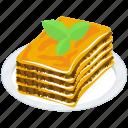 baked pasta, italian cuisine, italian dish, italian food, italian lasagna, layered pasta icon