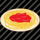 food, italian cuisine, italian dish, italian food, meal, noodles, spaghetti with sauce icon