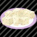cheese, food, snack, soya cheese, tofu cheese platter, vegan cheese icon