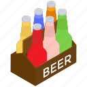 beer carte, beverages, can carte, cold drinks, wine crate icon