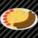 belgian cuisine, belgian dish, belgian food, meal, stoemp platter icon