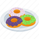 bakery item, dessert, donut, doughnut, food icon