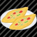 baked food, bakery food, fast food, mediterranean food platter, pide food, turkish food icon