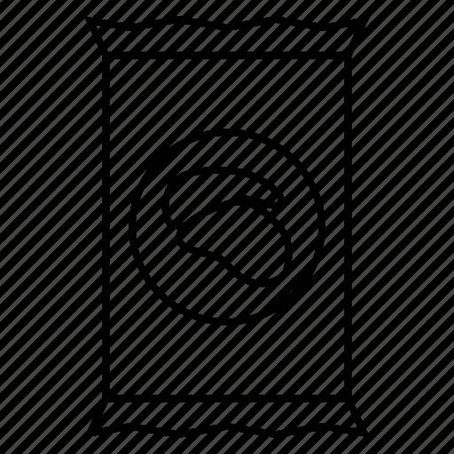 bag, crunchy, fat, plastic icon