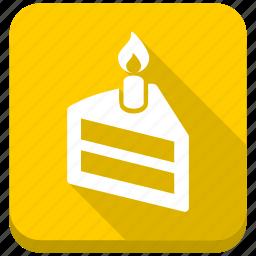 birthday, cake, candle, celebration, dessert, party, sweet icon