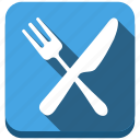 food, fork, dinner, knife, kitchen, restaurant icon