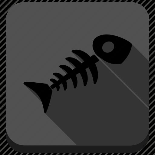 anatomy, bone, dead, death, fish skeleton, poison, toxic icon