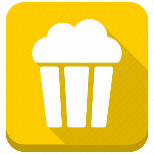 cinema, cup, meal, movie food, pop corn, popcorn, snack icon