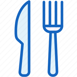 food, fork, kitchen, knife, pan icon