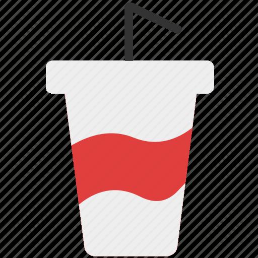 beverage, drink, drink with straw, fast food, soda, soft drink, straw icon