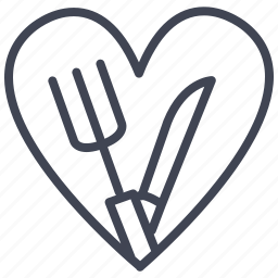 food, kitchen, love, meal, restaurant icon