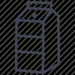 beverage, carton, drink, food, milk icon