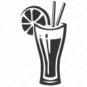 cocktail, drink, glass, juice, restaurant icon