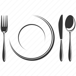 cutlery, dish, plate, restaurant icon