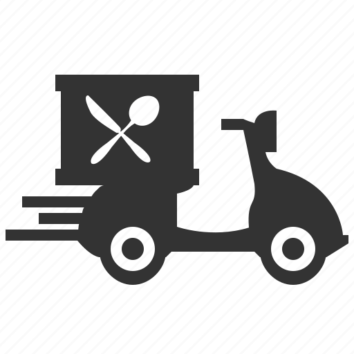 delivery, dish, meal icon