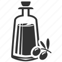bottle, oil, olive oil icon