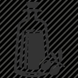 bottle, oil, olive oil icon