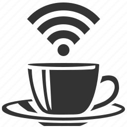 cafe, restaurant, wifi icon