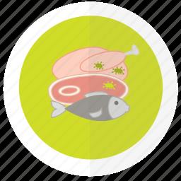flat design, food, icon1, safety icon