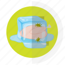flat design, food, icon10, safety icon