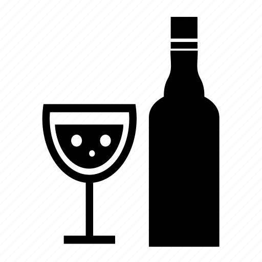 alcohol, celebration, drink, party, wine, wine bottle, wine glass icon