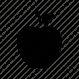 apple, apple with leaf, fresh apple, fruit icon