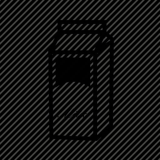 milk, milk bottle, milk box icon