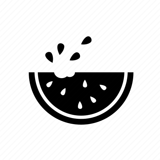 eating watermelon, fruit, watermelon, watermelon slice icon
