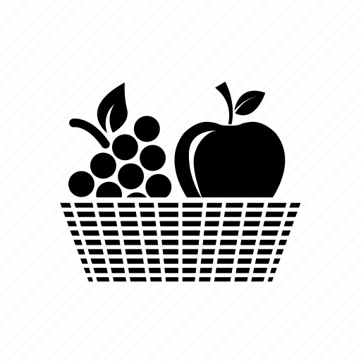 apple, apple and grapes, fruits, fruits basket, grapes icon