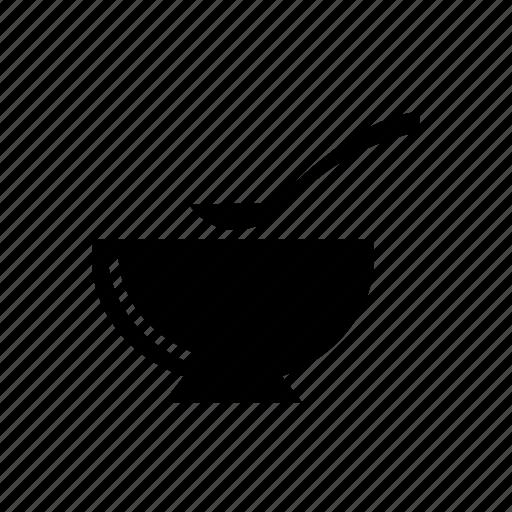 bowl, cooking pot, crockery, spoon icon