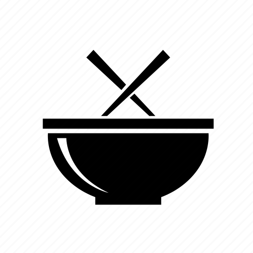 bowl, chopsticks, noodles icon