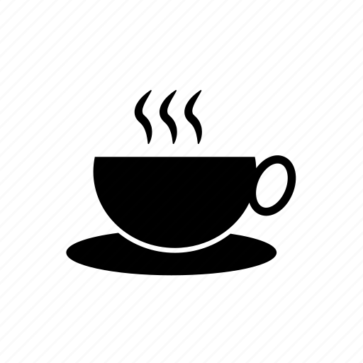 coffee, cup and saucer, hot coffee, hot coffee cup, hot tea, hot tea cup, tea icon