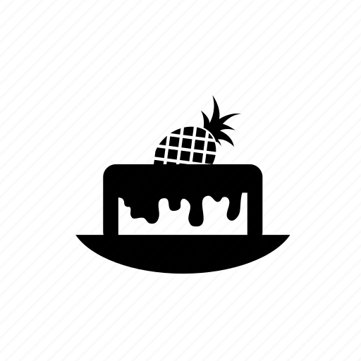 cake, dessert, pineapple, pineapple cake, sweet icon