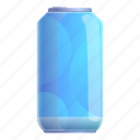 tin, water, food, can, drink, party icon