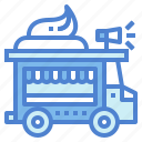 bakery, cake, dessert, food, transportation, truck