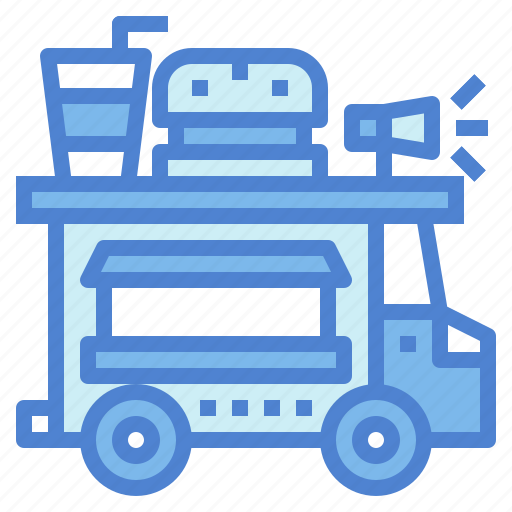 burger, delivery, drink, fast, food, truck icon