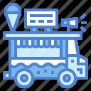cream, food, ice, sweet, transportation, truck icon