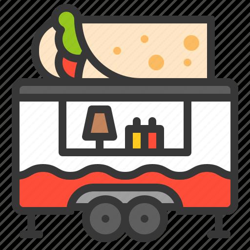 burrito, food, mexican, shop, truck icon