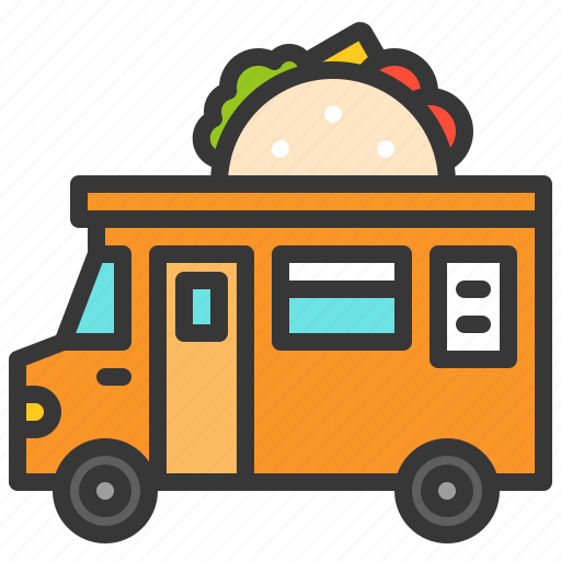 food, mexican, shop, taco, truck icon